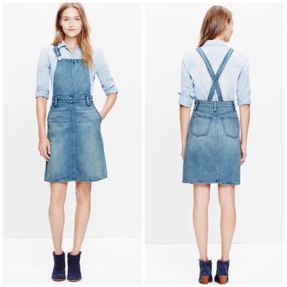 5357775c14 Madewell Dresses   Skirts - Madewell Denim Jumper Overall Dress Small I0861